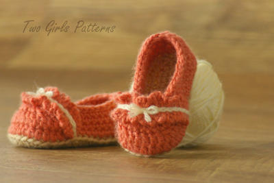 Crochet Pattern for the Ruffle Ballet Flats Baby Shoes Pattern