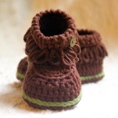Crochet patterns - Fringe Baby Booties - PDF pattern