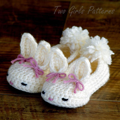 Round Bunny House Slippers