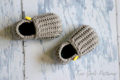 "Toddler Crochet Pattern for ""Jake"" Loafers - Toddler Sizes 4-9 Pattern"