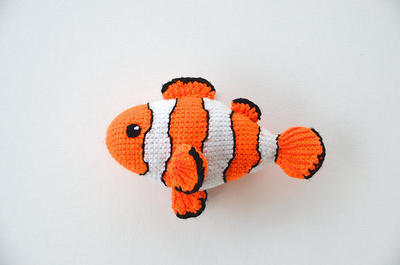 Clown Fish Crochet Pattern