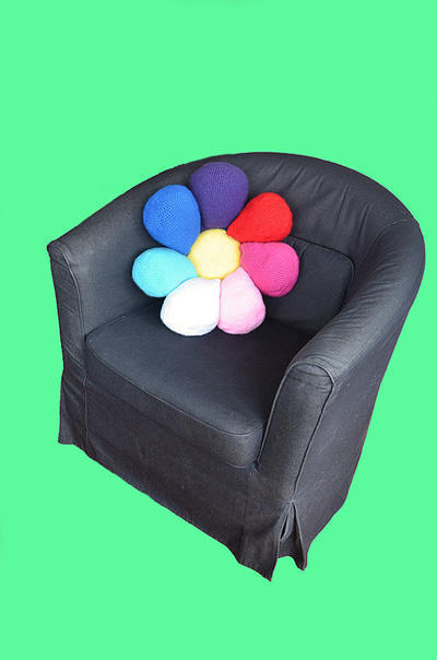 Flower Pillow Floral Cushion