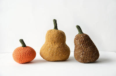 Gourds Crochet Pattern - Pumpkins
