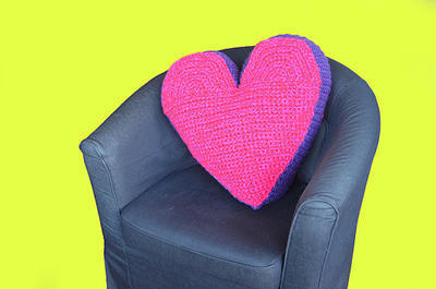 Heart Pillow Crochet Pattern
