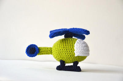Helicopter - Chopper - Rotor Plane - Vehicle Amigurumi Toy
