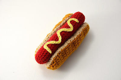Hotdog - Crochet Fast Food - Play Kitchen