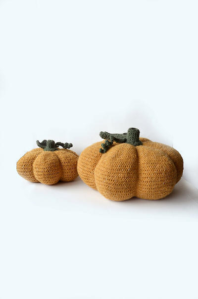 Pumpkin Set - XL and M Pumpkin Amigurumi
