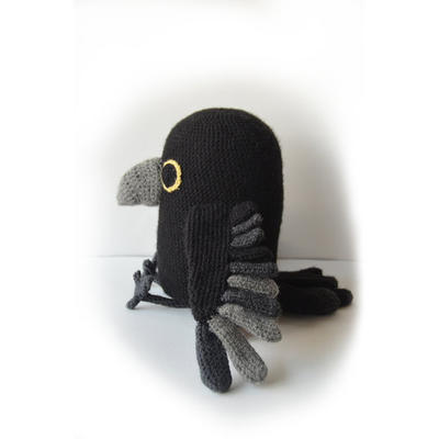Raven - Large Bird Amigurumi