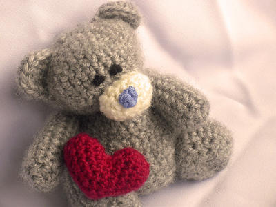 Teddy Bear with Heart Amigurumi