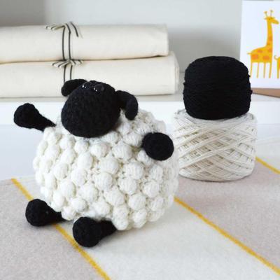 Lujo Bobble ovejas Amigurumi Crochet Kit