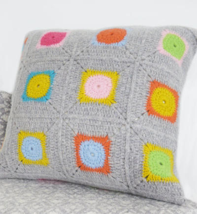 Luxury Granny Square Crochet Cushion Cover Kit