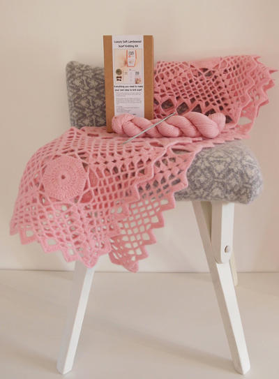 Luxury Lace Crochet Baby Blanket Kit