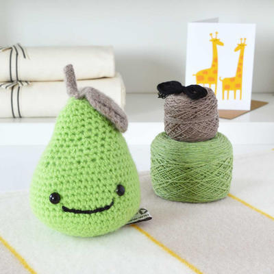 Luxury Smiley Pear Amigurumi Crochet Kit