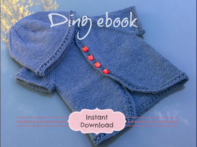 DING ebook Baby Cardigan & Beanie Knitting Pattern