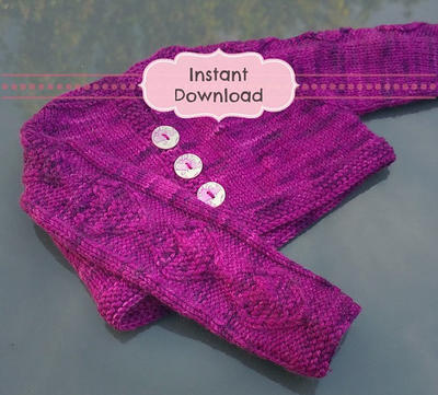 Katren Baby Cardigan Knitting Pattern