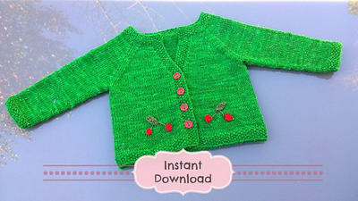 My Little Cherry Baby Cardigan Knitting Pattern