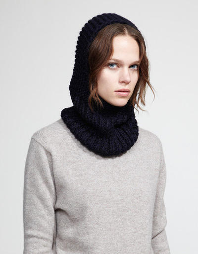 Off Piste Hood Knitting Pattern