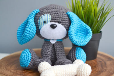 Domino The Dog Amigurumi Crochet Pattern