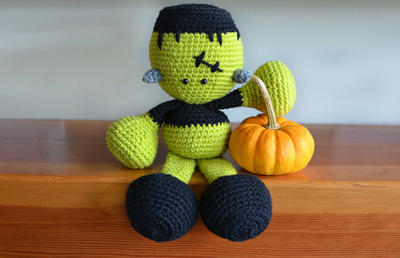 Frankenstein Crochet Pattern. Halloween Crochet Pattern