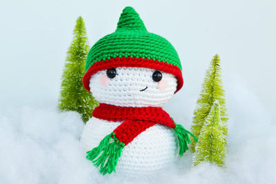Sid The Snowman Crochet Pattern
