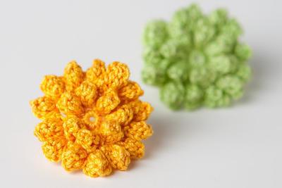Crochet Pattern Dahlia Flower