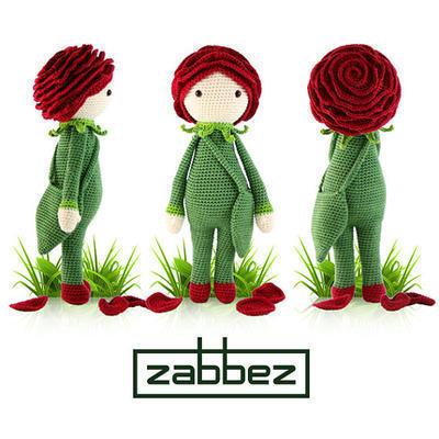 "Crochet pattern amigurumi doll ""Rose Roxy"""